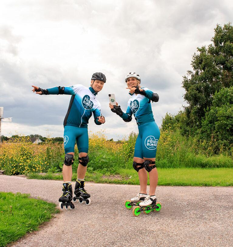 Kalvijn & Irene Schouten trainen voor de SKATE4daagse